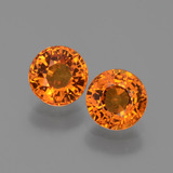thumb image of 1.3ct Round Facet Yellow Orange Sapphire (ID: 446334)
