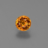 thumb image of 0.7ct Round Facet Yellow Orange Sapphire (ID: 446363)