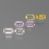 thumb image of 2.5ct Octagon Step Cut Multicolor Sapphire (ID: 450583)