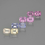 thumb image of 0.3ct Octagon Step Cut Multicolor Sapphire (ID: 450719)
