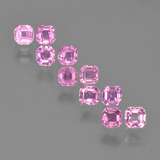 thumb image of 0.1ct Octagon Step Cut Very Light Royal Purple Pink Sapphire (ID: 452319)