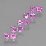 thumb image of 0.2ct Octagon Step Cut Light Royal Purple Pink Sapphire (ID: 452333)