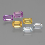 thumb image of 2.1ct Octagon Step Cut Multicolor Sapphire (ID: 452459)