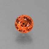 thumb image of 0.8ct Round Facet Orange Sapphire (ID: 453077)