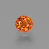 thumb image of 0.7ct Round Facet Yellow Orange Sapphire (ID: 453084)