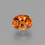 thumb image of 2.1ct Oval Facet Yellow Orange Sapphire (ID: 453119)