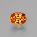 thumb image of 1.8ct Oval Facet Yellow Orange Sapphire (ID: 453120)