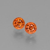 thumb image of 1.5ct Round Facet Yellow Orange Sapphire (ID: 453185)