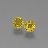 thumb image of 1.3ct Round Facet Yellow Sapphire (ID: 453188)