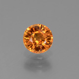 thumb image of 0.7ct Round Facet Yellow Orange Sapphire (ID: 453208)