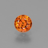 thumb image of 0.7ct Round Facet Yellow Orange Sapphire (ID: 453215)