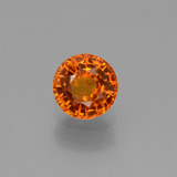 thumb image of 0.7ct Round Facet Yellow Orange Sapphire (ID: 453217)
