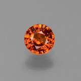 thumb image of 0.7ct Round Facet Orange Sapphire (ID: 453218)
