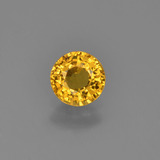 thumb image of 0.6ct Round Facet Yellow Golden Sapphire (ID: 453272)