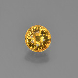thumb image of 0.6ct Round Facet Yellow Golden Sapphire (ID: 453276)