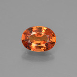 thumb image of 1.5ct Oval Facet Orange Sapphire (ID: 453279)