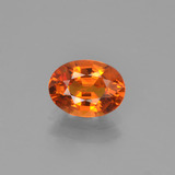 thumb image of 1.5ct Oval Facet Yellow Orange Sapphire (ID: 453285)