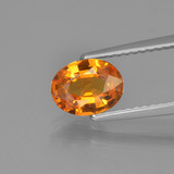 thumb image of 1.1ct Oval Facet Yellow Golden Sapphire (ID: 453287)