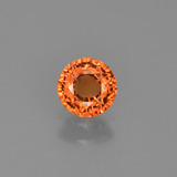 thumb image of 0.6ct Round Facet Yellow Orange Sapphire (ID: 453375)