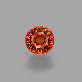 thumb image of 0.6ct Round Facet Orange Sapphire (ID: 453430)