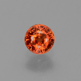 thumb image of 0.8ct Round Facet Orange Sapphire (ID: 453433)