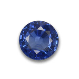 thumb image of 0.6ct Round Facet Blue Sapphire (ID: 456060)
