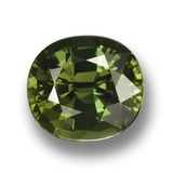 thumb image of 4.2ct Oval Facet Green Sapphire (ID: 458365)