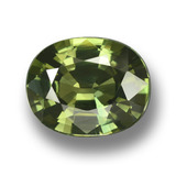 thumb image of 4.1ct Oval Facet Green Sapphire (ID: 458366)