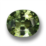 thumb image of 4.5ct Oval Facet Green Sapphire (ID: 458367)