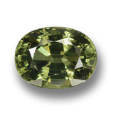 thumb image of 4.1ct Oval Facet Green Sapphire (ID: 458368)