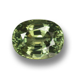 thumb image of 4.8ct Oval Facet Green Sapphire (ID: 458370)