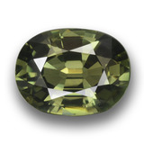 thumb image of 3.1ct Oval Facet Green Sapphire (ID: 458453)