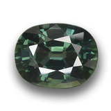 thumb image of 3.1ct Oval Facet Green Sapphire (ID: 458455)