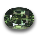 thumb image of 4ct Oval Facet Green Sapphire (ID: 458456)