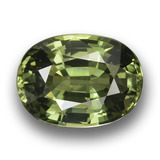 thumb image of 4.2ct Oval Facet Green Sapphire (ID: 458457)