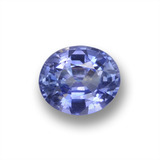 thumb image of 0.6ct Oval Facet Violet Sapphire (ID: 458789)