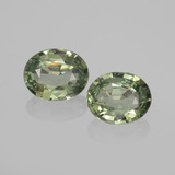thumb image of 1.4ct Oval Facet Green Sapphire (ID: 459817)