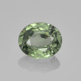thumb image of 0.7ct Oval Facet Green Sapphire (ID: 459851)