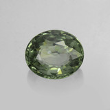 thumb image of 0.9ct Oval Facet Green Sapphire (ID: 459893)
