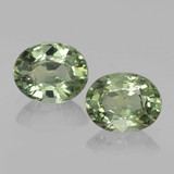 thumb image of 1.6ct Oval Facet Green Sapphire (ID: 460091)