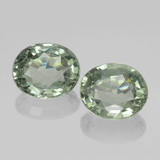 thumb image of 1.5ct Oval Facet Green Sapphire (ID: 460092)