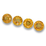 thumb image of 2.4ct Round Facet Yellow Golden Sapphire (ID: 460671)