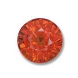 thumb image of 1ct Round Facet Orange Sapphire (ID: 460746)