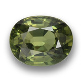 thumb image of 1.1ct Oval Facet Green Sapphire (ID: 460755)