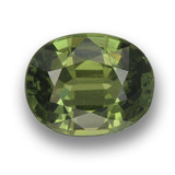 thumb image of 1.1ct Oval Facet Green Sapphire (ID: 460757)