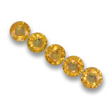 thumb image of 2.5ct Round Facet Yellow Sapphire (ID: 460800)