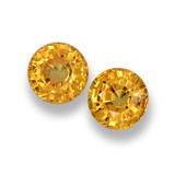 thumb image of 1.1ct Round Facet Yellow Orange Sapphire (ID: 461043)