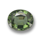 thumb image of 1.3ct Oval Facet Green Sapphire (ID: 461079)