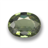 thumb image of 1ct Oval Facet Green Sapphire (ID: 461083)