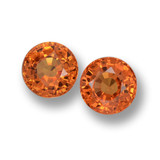 thumb image of 1.3ct Round Facet Orange Sapphire (ID: 461183)